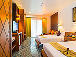 プーケット ファミリー&グループのホテル : ザ ロイヤル パラダイス ホテル & スパ(The Royal Paradise Hotel & Spa)のロイヤル スーペリア(シングル)ルームの設備 Bedroom