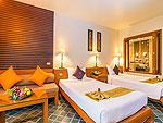 プーケット ファミリー&グループのホテル : ザ ロイヤル パラダイス ホテル & スパ(The Royal Paradise Hotel & Spa)のロイヤル スーペリア(ツイン)ルームの設備 Bedroom