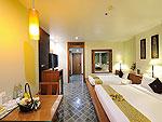 プーケット ファミリー&グループのホテル : ザ ロイヤル パラダイス ホテル & スパ(The Royal Paradise Hotel & Spa)のロイヤル デラックス(シングル)ルームの設備 Bedroom