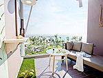 プーケット スパ併設のホテル : ザ サンズ カオ ラック(The Sands Khao Lak)のシーサイド ジュニア スイートルームの設備 Balcony