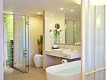 プーケット スパ併設のホテル : ザ サンズ カオ ラック(The Sands Khao Lak)のシーサイド ジュニア スイートルームの設備 Bath Room