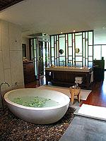 プーケット ビーチフロントのホテル : ザ サロジン(The Sarojin)のプール レジデンスルームの設備 Bath Room