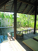プーケット カオラックのホテル : ザ サロジン(The Sarojin)のプール レジデンスルームの設備 Terrace