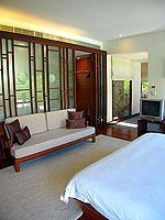 プーケット カオラックのホテル : ザ サロジン(The Sarojin)のスパ スイートルームの設備 Bedroom