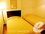 バンコク シーロム・サトーン周辺のホテル : ザ サンライズ レジデンス サラデーン(The Sunrise Residence Saladaeng)のツインベット スタジオルームの設備 Bedroom