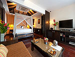 Living Area : Sea Front Cottage at The Tongsai Bay, Choeng Mon Beach, Samui
