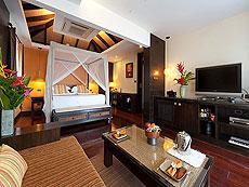 サムイ島 チョンモーンビーチのホテル : ザ トンサイ ベイ(1)のお部屋「シーフロント コテージ」
