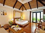 サムイ島 チョンモーンビーチのホテル : ザ トンサイ ベイ(The Tongsai Bay)のシーフロント ヴィラルームの設備 Bed Room