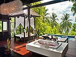 サムイ島 チョンモーンビーチのホテル : ザ トンサイ ベイ(The Tongsai Bay)のシーフロント ヴィラルームの設備 Outdoor Bathtub