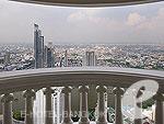 バンコク カップル&ハネムーンのホテル : タワー クラブ アット ルブア(Tower Club at lebua)のルブア スイート3ベッドルームルームの設備 Balcony