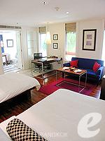 バンコク シーロム・サトーン周辺のホテル : トリプル トゥー シーロム(Triple Two Silom)のデラックス (ツイン/ダブル)ルームの設備 Room View