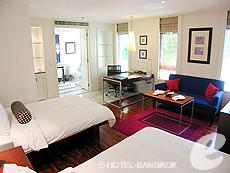 バンコク シーロム・サトーン周辺のホテル : トリプル トゥー シーロム(Triple Two Silom)のお部屋「デラックス (ツイン/ダブル)」