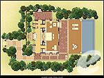 プーケット プールヴィラのホテル : トリサラ(Trisara)のオーシャン ビュー プール ヴィラルームの設備 Layout