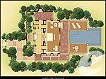 プーケット ヴィラコテージのホテル : トリサラ(Trisara)のオーシャン フロント プール ヴィラルームの設備 Layout
