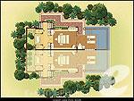 プーケット ヴィラコテージのホテル : トリサラ(Trisara)のオーシャン ビュー プールルームの設備 Layout