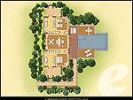 プーケット プールヴィラのホテル : トリサラ(Trisara)の2ベッドルーム オーシャン フロント プールヴィラルームの設備 Layout