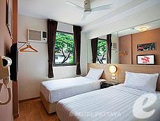 パタヤ ノースパタヤのホテル : レッドプラネット パタヤ ホテル(1)のお部屋「ツイン」