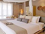 クラビ オーシャンビューのホテル : ツイン ロータス-コ ランタ(Twin Lotus - Koh Lanta)のデラックス ガーデン ヴィラルームの設備 Bedroom