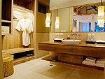 クラビ オーシャンビューのホテル : ツイン ロータス-コ ランタ(Twin Lotus - Koh Lanta)のデラックス ガーデン ヴィラルームの設備 Bath Room