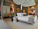 クラビ ランタ島のホテル : ツイン ロータス-コ ランタ(Twin Lotus - Koh Lanta)のデラックス シービュー ヴィラルームの設備 Bedroom