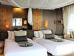 クラビ オーシャンビューのホテル : ツイン ロータス-コ ランタ(Twin Lotus - Koh Lanta)のデラックス ビーチフロント ヴィラルームの設備 Bedroom