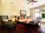 プーケット ファミリー&グループのホテル : ヴィラ アマンジ(Villa Amanzi)の4ベッドルームルームの設備 Fifeth Room