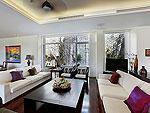 プーケット ファミリー&グループのホテル : ヴィラ アマンジ(Villa Amanzi)の6ベッドルームルームの設備 Living Room