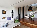 サムイ島 チョンモーンビーチのホテル : ヴィラ ベル(Villa Belle)の3ベッドルームルームの設備 Lower Living Room