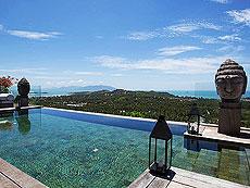 サムイ島 チョンモーンビーチのホテル : ヴィラ ベル(1)のお部屋「3ベッドルーム」