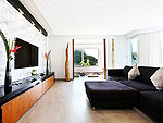プーケット ファミリー&グループのホテル : ヴィラ ビヨンド(Villa Beyond)の3ベッドルームルームの設備 Living Room