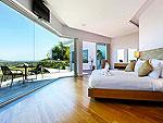 プーケット バンタオビーチのホテル : ヴィラ ナマステ(Villa Namaste)の4ベッドルームです。ルームの設備 Master Bedroom