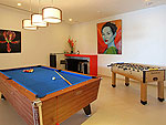 プーケット その他・離島のホテル : ヴィラ パドマ(Villa Padma)の3ベッドルームルームの設備 Game Room