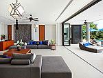 プーケット その他・離島のホテル : ヴィラ パドマ(Villa Padma)の4ベッドルームルームの設備 Living Room