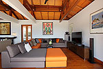 プーケット スリンビーチのホテル : ヴィラ ラク タワン(Villa Rak Tawan)の1ベッドルームルームの設備 Theater Room