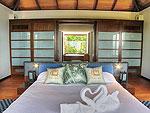 プーケット スリンビーチのホテル : ヴィラ ラク タワン(Villa Rak Tawan)の4ベッドルームルームの設備 Master Bedroom