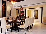 プーケット ファミリー&グループのホテル : ヴィラ サマキー(Villa Samakee)の4ベッドルームルームの設備 Dining Room