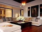 プーケット ファミリー&グループのホテル : ヴィラ サマキー(Villa Samakee)の5ベッドルームルームの設備 Living Room