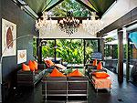 プーケット ファミリー&グループのホテル : ヴィラ ヤング(Villa Yang)の4ベッドルームルームの設備 Living Room