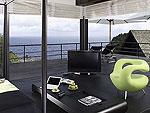 プーケット ファミリー&グループのホテル : ヴィラ イン(Villa Yin)の3ベッドルームルームの設備 Living Area